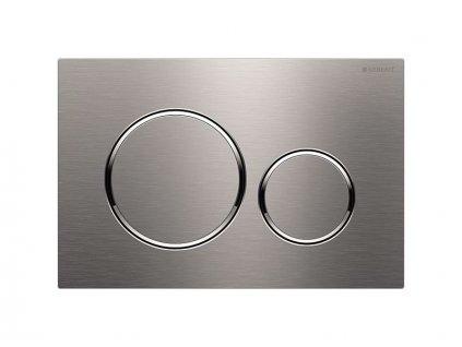 Geberit Sigma20 ovládací tlačítko, pro 2 množství splachování, nerezová ocel kartáčovaná/leštěná (115.882.SN.1)