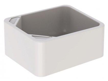Geberit Publica umyvadlo na nohy 39x48 cm, bez otvoru pro baterii, bez přepadu, bílá (108000000)