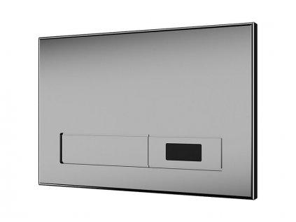 Sanela SLW 02N - Automatický splachovač WC s elektronikou ALS do montážního rámu SLR 21, nerezové tlačítko, 24 V DC (04022)