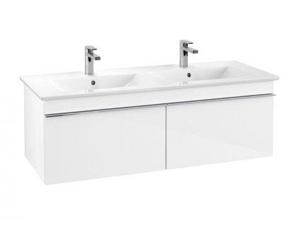 Villeroy & Boch Venticello skříňka pod umyvadlo 125,3x42x50,2 cm, 2x zásuvka, Glossy White (A93901VG)