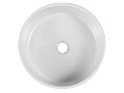 SAPHO - PRIORI keramické umyvadlo, průměr 41 cm, 15 cm, bílá s modrým vzorem PI027