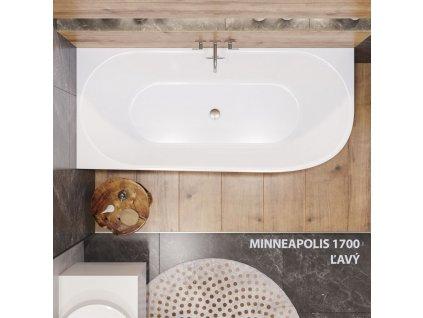 Aquatek - Volně stojící akrylátová vana MINNEAPOLIS 170x75 cm, varianta levá MINNEAPOLIS -13
