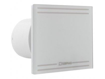 SAPHO - GLASS koupelnový ventilátor axiální s časovačem, 8W, potrubí 100mm, bílá GS102