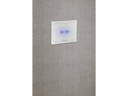 SAPHO - GLASS koupelnový ventilátor axiální s LED displejem, 8W, potrubí 100mm, bílá GS103