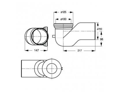Bruckner - WC koleno 90°, průměr 110 mm, ABS/bílá 159.316.0