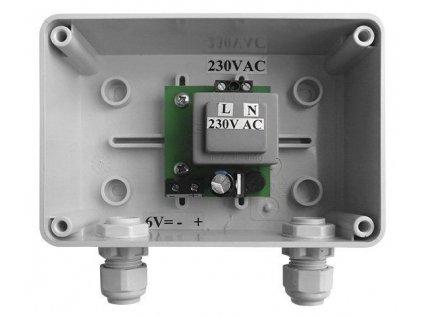 Bruckner - Napájecí zdroj pro 1-10 splachovačů pisoárů, 230V / 6V DC 121.762.1