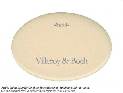 VILLEROY & BOCH - Keramický dřez Cisterna 50 Sand podstavný 445 x 445 bez excentru 670301i5