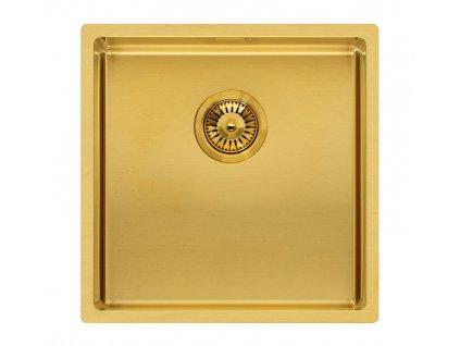Reginox - Nerezový dřez Miami 40x40, zlatá R30714