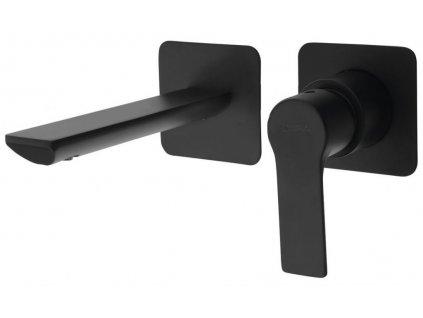 SAPHO - PAX podomítková umyvadlová baterie, černá mat XA08/15