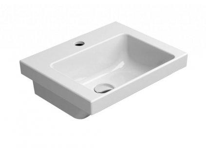 GSI - NORM keramické umyvadlo 42x17x34 cm, bílá ExtraGlaze 8685111