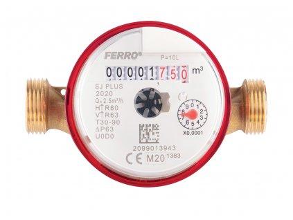 "Novaservis - vodoměr jednovtokový suchoběžný do 90°C 1/2"" pro vysílač RSS (SJ15ACPLUSPLI)"
