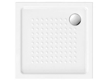 GSI - Keramická sprchová vanička, čtverec 80x80x4,5 cm 438411