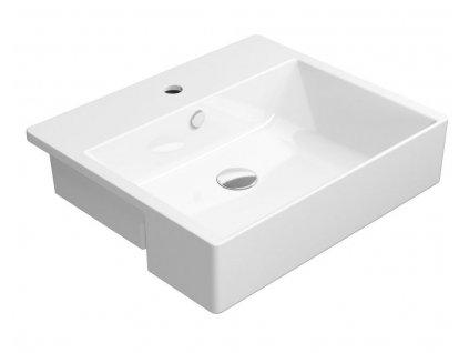 GSI - KUBE X keramické umyvadlo polozápustné 55x47 cm, bílá ExtraGlaze 9434111