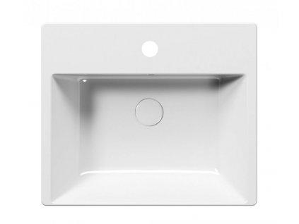 GSI - KUBE X umyvadlo polozápustné 55x47 cm, bílá ExtraGlaze 9434111