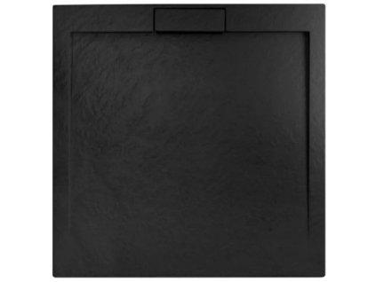 REA - Sprchová vanička Grand Black 90x90 REA-K4595