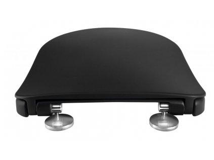 SAPHO - PAULA WC sedátko SLIM Soft Close, duroplast, černá mat KC0903.01.14