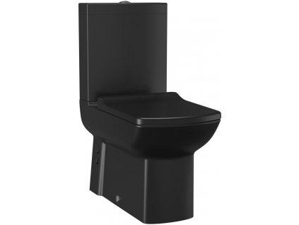 SAPHO - LARA WC kombi, spodní/zadní odpad, černá mat LR360