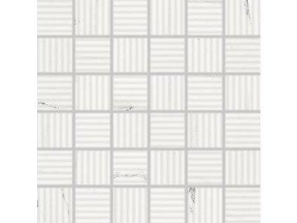 Rako Vein mozaika set 30x30 cm bílá 5x5 (WDR06233)