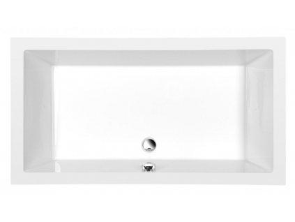 POLYSAN - DEEP hluboká sprchová vanička, obdélník 150x75x26cm, bílá 72384