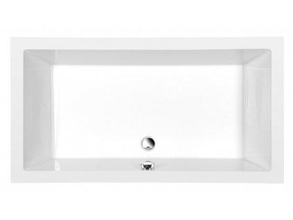 POLYSAN - DEEP hluboká sprchová vanička, obdélník 160x75x26cm, bílá 72385
