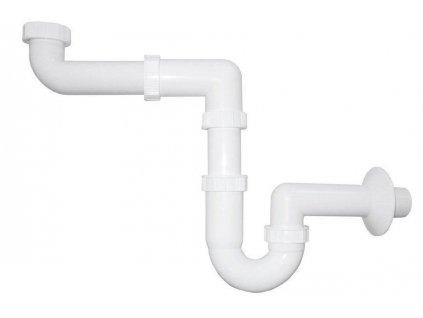 Bruckner - Umyvadlový sifon šetřící místo 1'1/4 odpad 40 mm, bílá 151.129.0