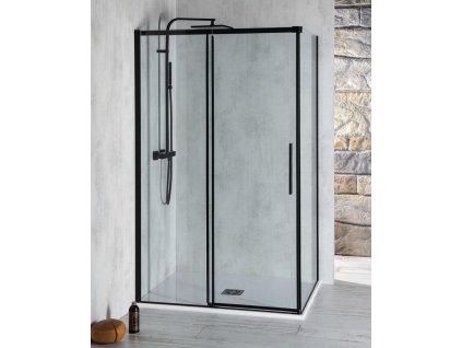 POLYSAN - ALTIS LINE BLACK obdélníkový sprchový kout 1500x1000 mm, L/P varianta AL4212BAL6112B