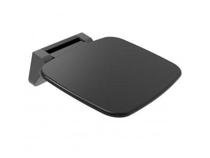 POLYSAN - SAAP BLACK sprchové sedátko, 35x32,8cm, sklopné, černá mat CW1220B