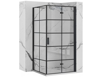 REA/S - Sprchový kout MOLIER dveře/stěna 100X80 BLACK MOLDS100080B