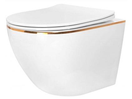 REA - Závěsná WC mísa Carlo Mini Flat bílá REA-C1222
