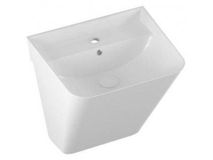 ISVEA - SOTT AQUA keramické umyvadlo MONOBLOCK 50x42cm, bílá 10SQ37002