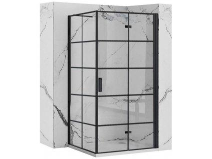 REA/S - Sprchový kout MOLIER dveře/stěna 80X100 BLACK MOLDS080100B