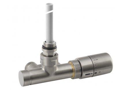 SAPHO - MONO ONE připojovací sada ventilů termostatická jednobodová, broušená nerez CP2550S