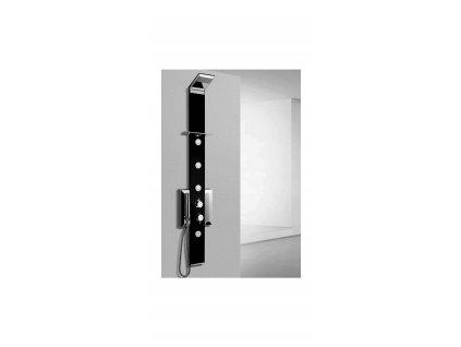 PRISMA BLACK, sprchový panel rohový, termostatická baterie (PBTR)