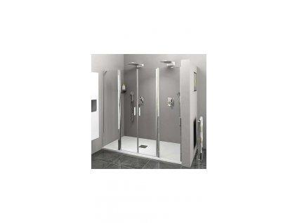 ZL1416 sprchové dveře do niky s 2 pevnými stěnami 160