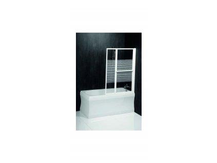 Zástěna VENUS 2 - bílý rám,čiré sklo s pruhy, š.106(67) - obdélníkové vany