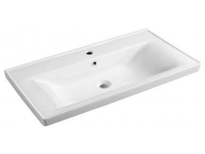 AQUALINE - SAVA 90 nábytkové umyvadlo 90x46x16,5 cm 2090B