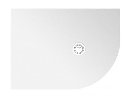 FLEXIA vanička z litého mramoru čtvrtkruh, s možností úpravy rozměru, 110x90x2,5cm, R550, levá (91341)