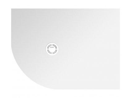 FLEXIA vanička z litého mramoru čtvrtkruh, s možností úpravy rozměru, 110x90x2,5cm, R550, pravá (91361)