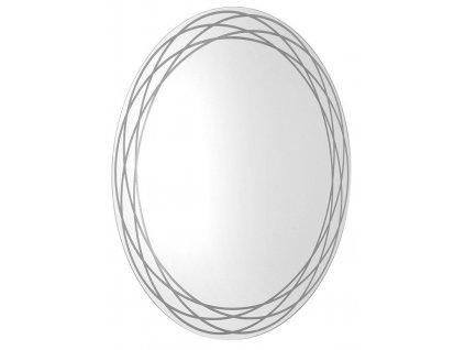 SAPHO - RINGO kulaté LED podsvícené zrcadlo se vzorem, průměr 80cm RN080