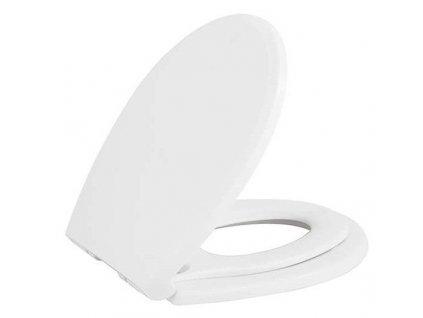 SAPHO - WC sedátko s integrovaným dětským sedátkem, Soft Close, bílá KC0803.01.0