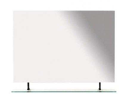 SAPHO - WEGA zrcadlo 1000x800mm, s policí, černá mat 60092B