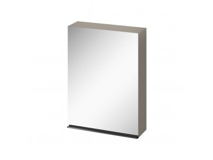 CERSANIT - Zrcadlová skříňka VIRGO 60 šedý dub s černými úchyty S522-016