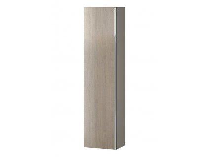 CERSANIT - Nábytkový sloupek VIRGO šedý dub s chromovou úchytkou S522-034