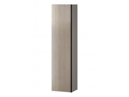 CERSANIT - Nábytkový sloupek VIRGO šedý dub s černou úchytkou S522-035