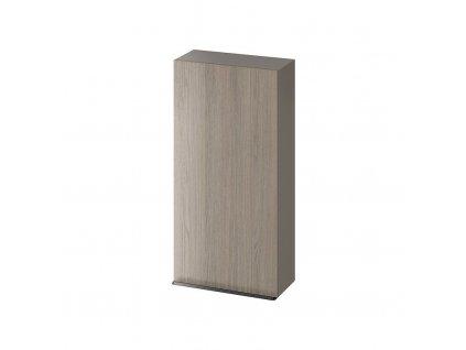 CERSANIT - Závěsná skříňka VIRGO 40 šedý dub s černými úchyty S522-038