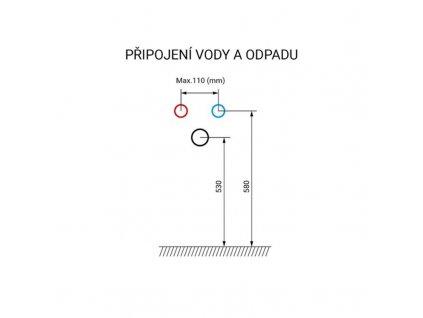 MEREO - Bino koupelnová skříňka, dvoumyvadlo litý mramor, 120 cm, bílá/dub, 2 zásuvky CN673M