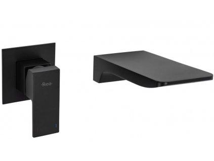 REA - Podomítková umyvadlová baterie Mason černá REA-B0690