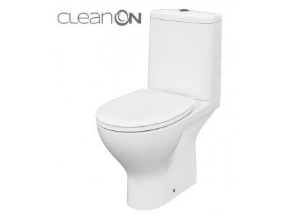 CERSANIT - WC KOMBI MODUO 43 673 011 3/5 CLEAN ON, SEDÁTKO DUROPLAST-SOFT CLOSE K116-035
