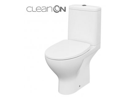 CERSANIT - WC KOMBI MODUO 43 675 011 3/5 CLEAN ON, SEDÁTKO SLIM WRAP DUROPLAST-SOFT CLOSE K116-037