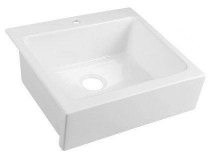 SAPHO - ARYA dřez keramický 66x62cm, bílá 50166